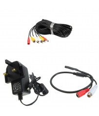 Add On High Gain Audio Covert Microphone Kit for CCTV Camera Security System