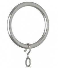 John Lewis Nickle Plated Curtain Rings 25mm (Pack of 6)