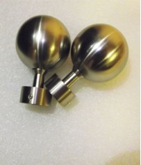 John Lewis Pair of Nickel Plated Finials 25mm Pole